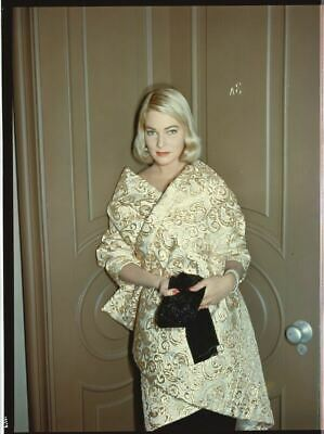 MAY BRITT Candid Vintage 8x10 Portrait Photo TRANSPARENCY Slide THE YOUNG LIONS
