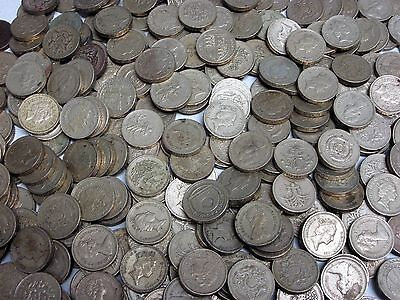 1lb. Lot of Circulated, Assorted British One Pound Coins