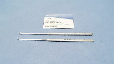 Jarit Buck Ear Curette Set, Size 0, Sharp + Blunt, German, 2 units