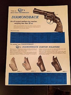 The New Colt Diamondback Lawman Mk III and Police Mk III Advertising sheets