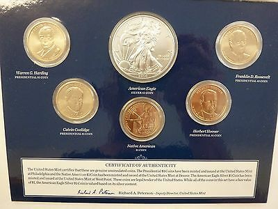 2014 United States Mint Annual Uncirculated Dollar Set with Silver Eagle #1