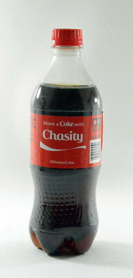 Share a Coke with Chasity 20 fl oz Collectible Bottle Rare Unopened Coca-Cola
