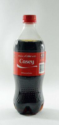 Share a Coke with Casey 20 fl oz Collectible Bottle Rare Unopened Coca-Cola