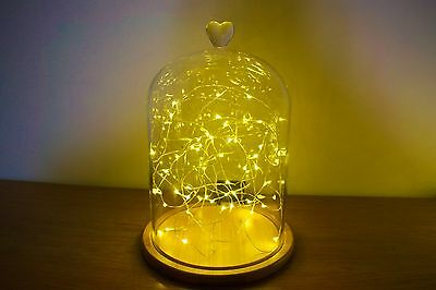 Glass Cloche | Bell Jar Display Dome | Centrepiece | Heart  | Wedding | Large