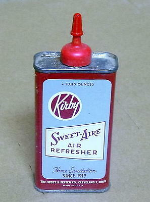 Vintage Kirby Sweet-Aire Air Fresher Tin Can, Made in USA, Vacuum