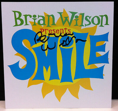 BRIAN WILSON Presents Smile 2004 Autographed Signed Promo Card BEACH BOYS
