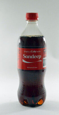 Share a Coke with Sandeep 20 fl oz Collectible Bottle Rare Unopened Coca-Cola