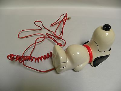 Vtg United Feature Syndicate Snoopy Dog Figural Touchtone Telephone Phone (A7)