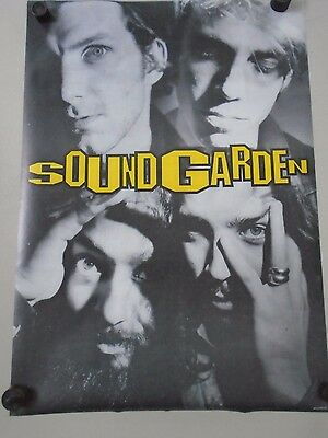 Soundgarden / Orig.UK B&W Poster / 4 Faces /  Exc.+ new cond.- 23 1/2 x 33""