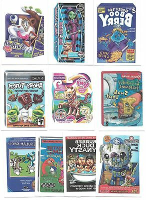 2015 Topps WACKY PACKAGES Series 1 Temporary Tattoos Insert Set  (10 Cards)