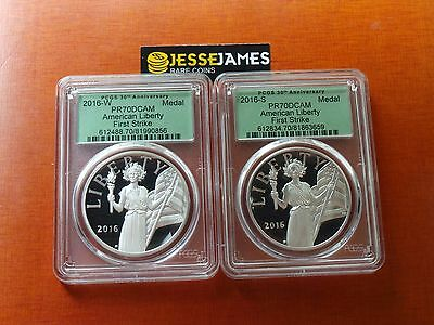 2016 W & S American Liberty Proof Silver Medal Pcgs Pr70 Dcam First Strike