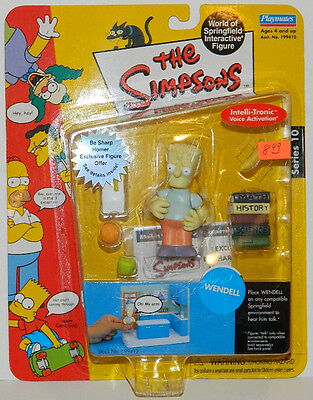 The Simpsons Wendell Action Figure with Voice Playmates 2002 NEW SEALED