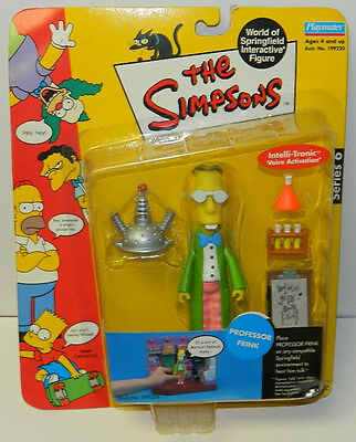 The Simpsons Professor Frink Action Figure with Voice, Playmates 2001 NEW SEALED