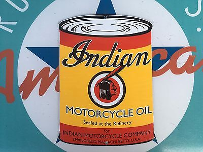 top quality INDIAN MOTORCYCLE OIL porcelain coated 18 GAUGE steel SIGN