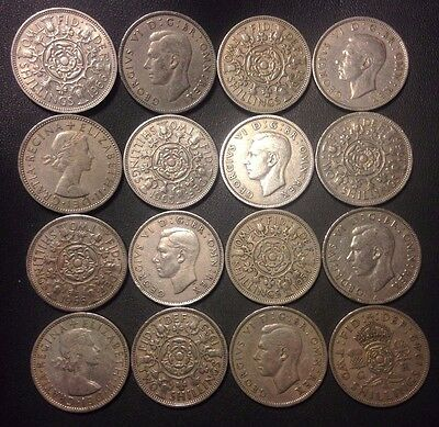 Vintage Great Britain Coin Lot - 16 FLORINS - Excellent Group - Lot M18