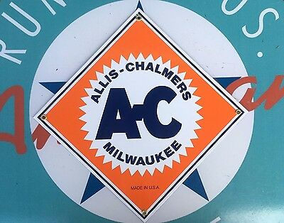 ALLIS CHALMERS TRACTORS  top QUALITY porcelain coated 18 GAUGE steel SIGN