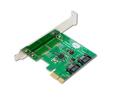 two SATA3 Ports, SATA III 2-port Internal 6Gbps PCI-Expre Card, ASM1061 Chipset