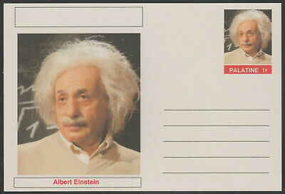 CINDERELLA - 3933- ALBERT EINSTEIN  featured on fantasy Postal Stationery card