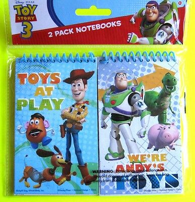 Bulk Lot x 10 Disney Toy Story Note Pads (5 packs) Lined Notebooks Party Favors