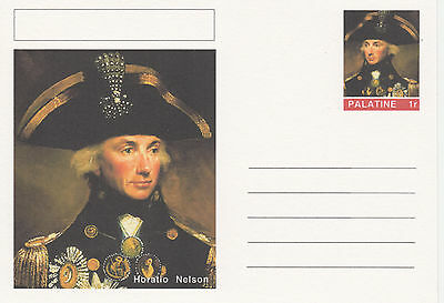 CINDERELLA - 3936 - HORATIO NELSON  featured on fantasy Postal Stationery card