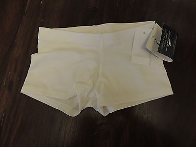 Motionwear Motion Wear Size Small Child White Bike Style DANCE Gymnastic Shorts