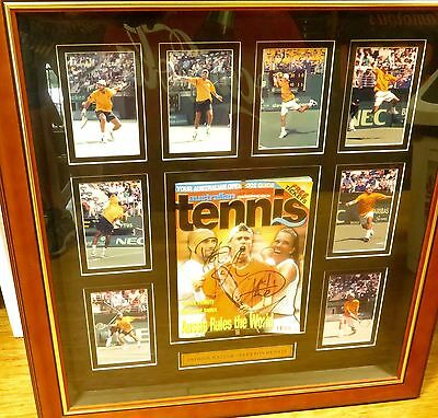 Unique / Stunning / Large Pat Rafter & Lleyton Hewitt Signed Display.