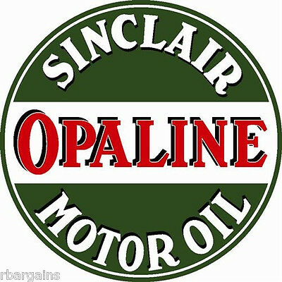 "Sinclair Opaline Motor Oil Large 25.5"" Metal Steel Sign Vintage Garage Service"