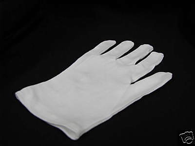 100% Cotton Gloves Coin Handling  1 pair