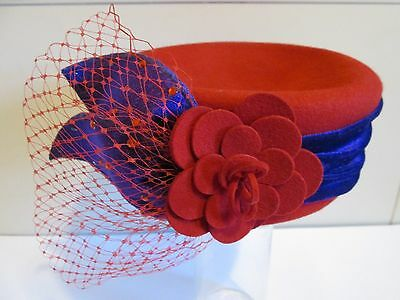 (M) Original Licensed Red Hat Society Woman's Hat By Scala, Wool