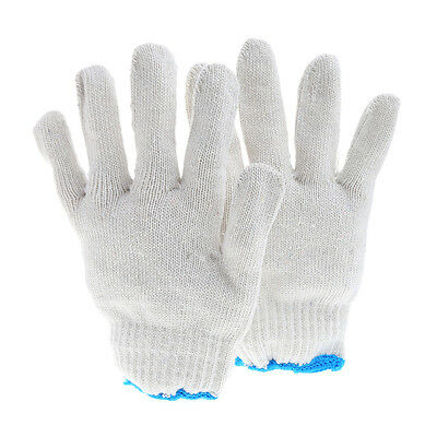 1Pair Cotton String Knit Safety Gloves White Labour Work Protection Car Repair