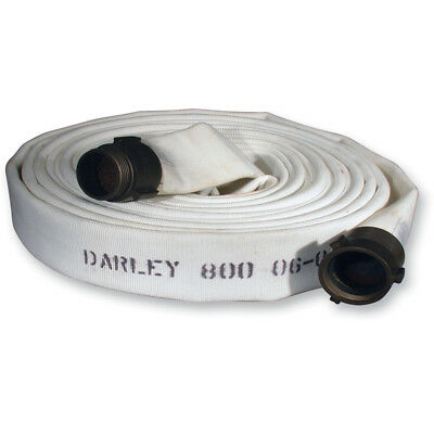"1-3/4""x50' white EPDM Double jacket Fire hose W/ Alum. NST"