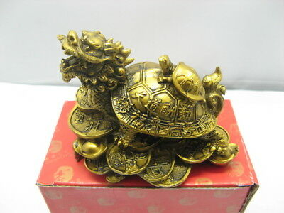 1Pc Chinese Fengshui Dragon Head Tortoise for Wealth