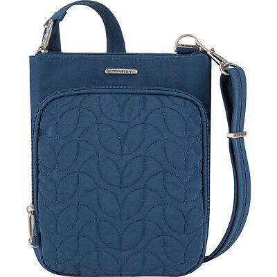 f435e3748e Travelon Anti-Theft Quilted Small North/South Crossbody Cross-Body Bag NEW
