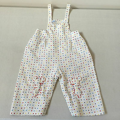 Vintage Baby Outfit Overalls With Bib And Snap Leg Closures Size 1