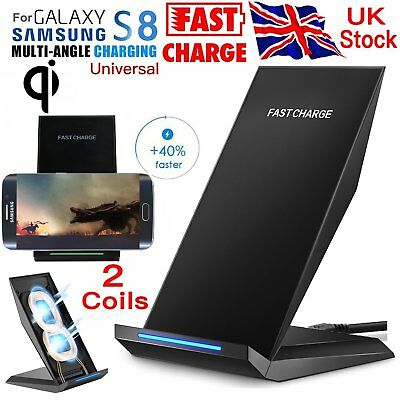 Fast Charging for Samsung Wireless Charger S6 S7 Edge S8+ Plus Stand Holder Note