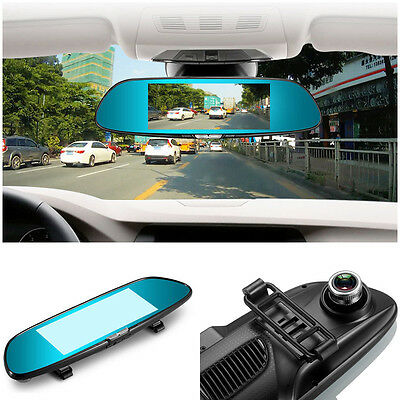 "7"" HD1080P Android 5.0 CAR DVR Rearview Mirror Dash Camera Dual Lensღ3G WIFI GPS"