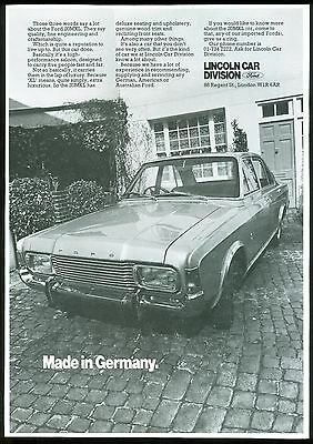 Ford 20Mxl B/w Magazine Advert (Uk)