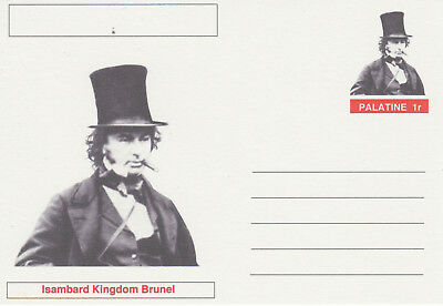 CINDERELLA - 3944 - I K BRUNEL  featured on fantasy Postal Stationery card