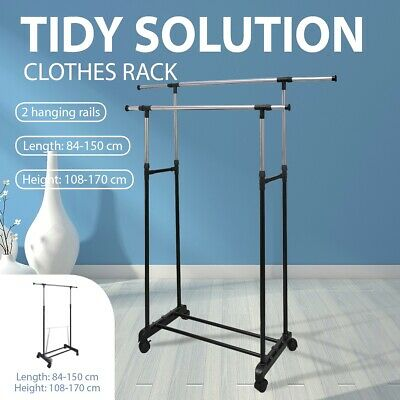 New Clothes Rack Adjustable Clothes Hanger Clothing Display Garment Drying Racks