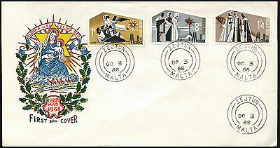 Malta 1969 Christmas FDC First Day Cover #C40713