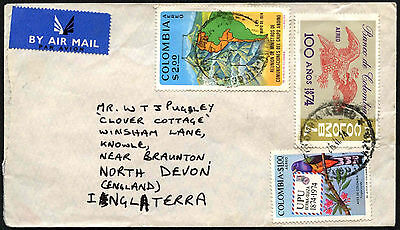 Colombia 1974 Commercial Airmail Cover To UK #C40589