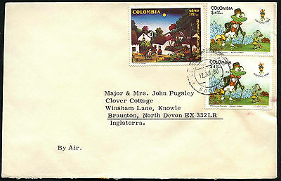 Colombia 1980 Commercial Airmail Cover To UK #C40590