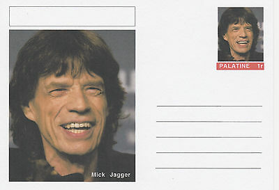 CINDERELLA - 3954 - MICK JAGGER  featured on fantasy Postal Stationery card