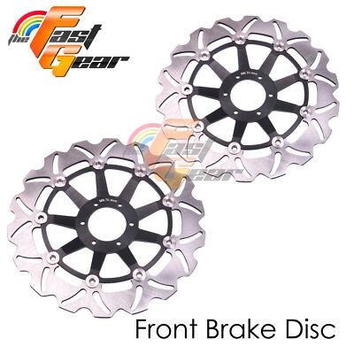Racing Front Brake Disc Rotor x2 Fit HONDA VTR 1000 F FIRESTORM 97 98 99 00-07