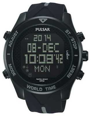 PNP PQ2041X1 Pulsar Gents Digital Chronograph Rubber Strap Watch