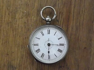 Pretty Antique Solid Sterling Silver Fob / Pocket Watch