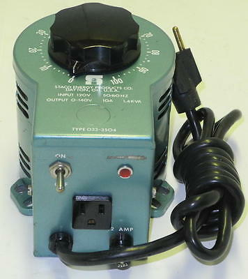 Staco Variable Autotransformer Variac 120v input & 0-140v output