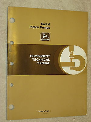 John Deere 1000, 2000, 3000 Series Hydraulic Pumps Technical Service Shop Manual