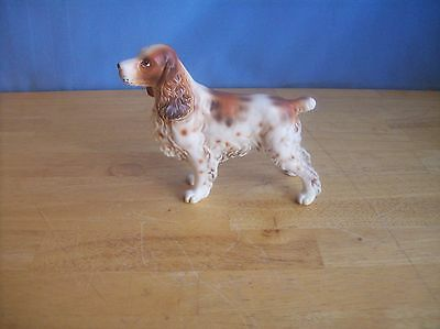 Vintage Brown And White Springer Spaniel Dog Figurine H7325