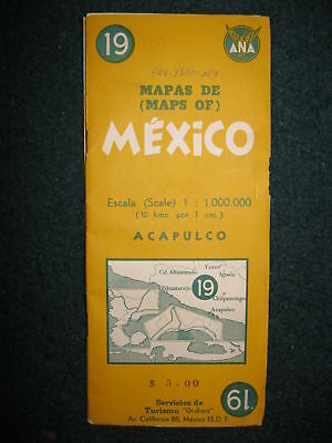 1955 Ana, Acapulco, Mexico, Map & Info Booklet